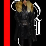 BLH IN LEATHER COAT AND FUR