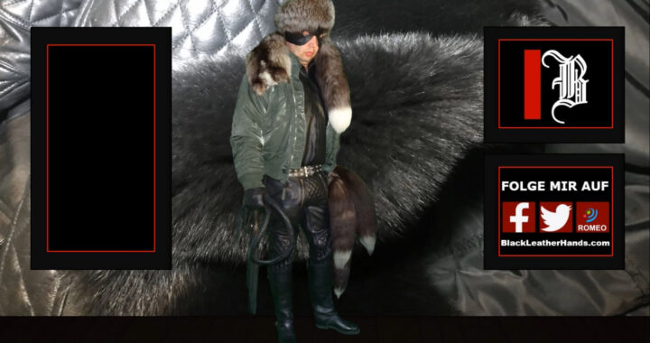 BlackLeatherHands IN LEATHER-FUR-BOMBER